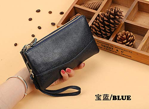 FIFY Wallet Damen lange Doppel-Reißverschluss-Handtasche Mode Multifunktions große Kapazität Geldbörse Handytasche, C