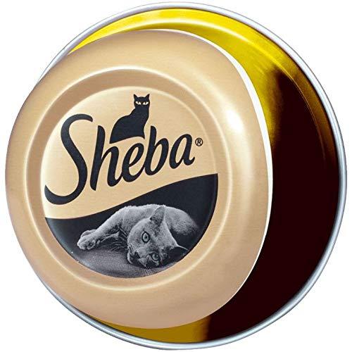 Sheba Feine Filets, Getreidefreies Nassfutter für Katzen als besonderer Snack, Köstliche Filets in eigenem Saft, 1.92kg
