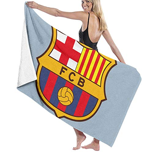 Toallas de baño Spain FC Barcelona, secado rápido, suave, toalla de ducha de playa, 130 x 80 cm