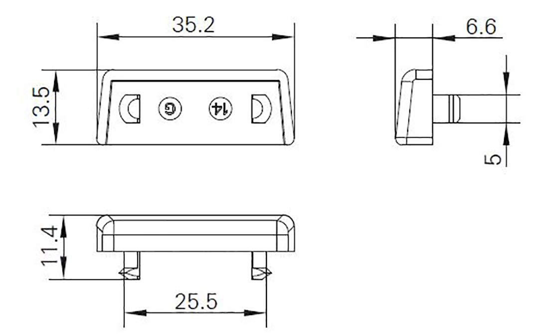 Tap/ón para ranura de agua Roto TS9929 color blanco