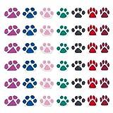 NBEADS 100 cuentas de arcilla polimérica, cuentas de huellas de perro, hechas a mano, varios colores, cuentas de fimo para manualidades y bisutería.