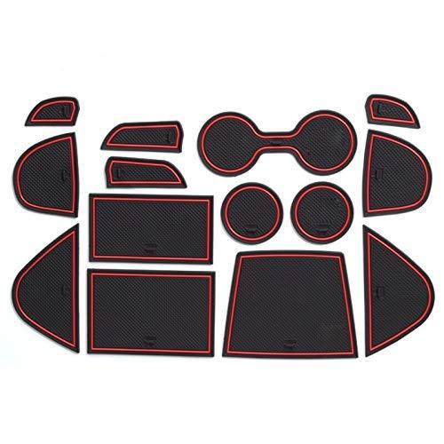 Gate Slot Pad Auto-Tor-Slot-Matten, kompatibel mit Mazda 3 Maxx BN-Serie Auto 2014-2016 Innenzubehör Türnutmatte rutschfest (Color : Mazda 3 RED)