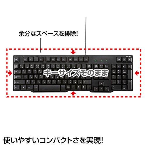 サンワサプライ有線USBキーボード標準日本語配列メンブレンブラックSKB-L1UBK