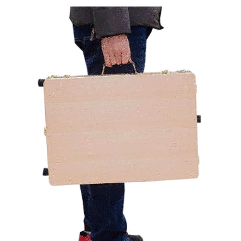 足治世角度画板 イーゼルボックスポータブル塗装ペイントイーゼルオイルボックスセット木製画像ボックスポータブルスケッチアルミ合金オイル イーゼル 木製