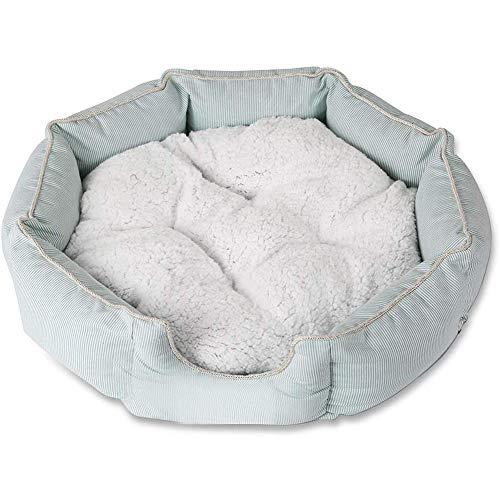LCZ Hundekorb-Korbkissen für Hunde, weich, waschbar, gefüllt, Plüsch, warmes Winternest, tiefer Schlaf M grün