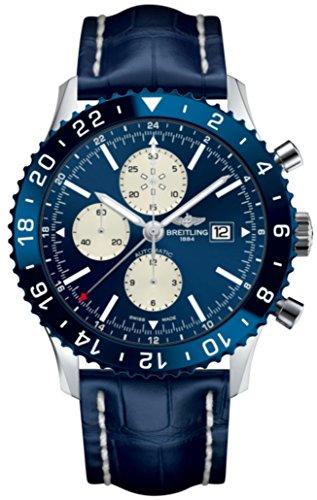 Breitling Chronoliner blau Uhr Chronograph GMT Zeitzone Y2431016/C970