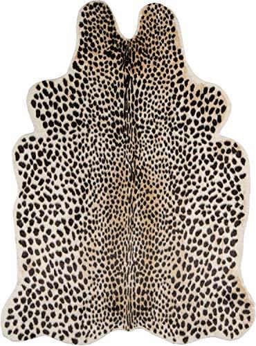"Erin Gates by Momeni Acadia Cheetah Multi Faux Hide Area Rug 5'3"" X 7'10"""
