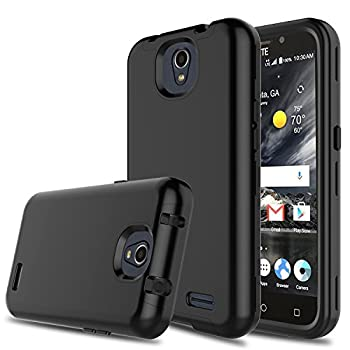 Innens Compatible with ZTE Maven 3 Case ZTE Z835 Case ZTE Prestige 2 Case 3-in-1 [TPU + Dual Layer PC] Shockproof Rugged Protective Case Compatible with ZTE Overture 3/Prelude Plus  Black