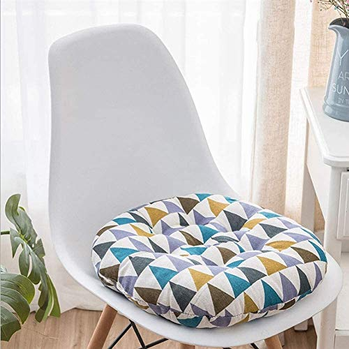 Hongqi Round Thicken Chair Cushion,futon Seat Cushion Multicolored Floor Pillow Office Seat Pad Window Pad for Living Room Balcony (Color : D, Size : 45x45cm(18x18inch))