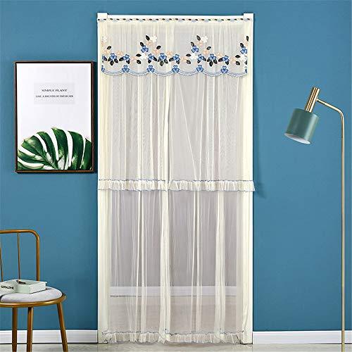 YUNSW Spitzen Stoff Doppelvorhänge, Sommer Anti-Mücken Vorhänge, Mückenvorhang Home Schlafzimmer Wohnzimmer