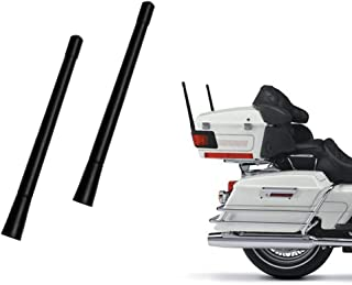 7-inch Short Custom Flexible Rubber Harley Davidson Motorcycle Antenna AM/FM for 1989-2019 Touring Electra Glide Ultra Classic Pack of 2
