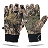 Camouflage Hunting Gloves Full Finger/Fingerless Adjustable Waterproof Windproof Gloves Pro Anti-Slip Paim Camo Glove Archery Accessories Hunting Outdoors