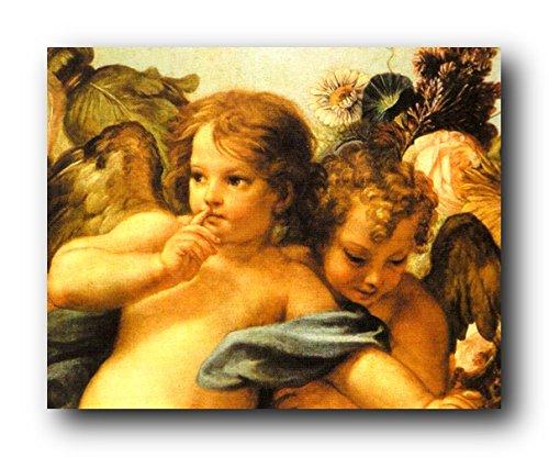 Little Angels Wall Decor Cherubini Picture Sistine Madonna Raphael Art Print Poster (16x20)