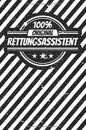 Notizbuch liniert: Rettungsassistent Geschenke lustiger Spruch Vintage