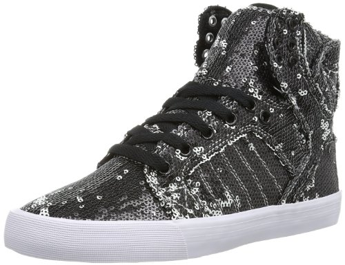 Supra Damen WOMENS SKYTOP High-top, Schwarz (WHITE/WHITE - WHITE WWW), 36.5 EU