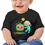 Kaopey Cute Cartoon Cocomelon Pattern Baby Short Sleeve Shirt Toddler Tee for Baby Boys Girls(6m-2t)