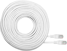 R-Tech RJ45 Cat5e Network Ethernet Cable – 60 Feet (18.2 Meters) – White