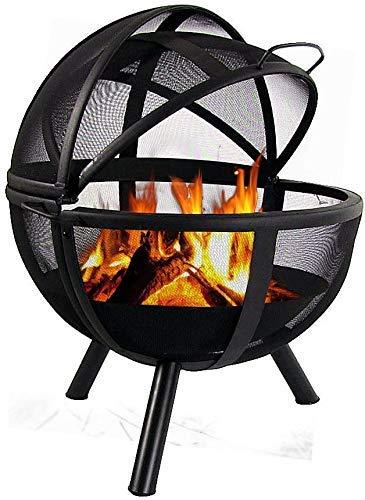 514PyqU5lvL - SGSG Feuerstelle, multifunktionale Feuerstelle im Freien 30 Zoll runden Holzofen Hinterhof und Patio Firepi für Camping Picknickgarten