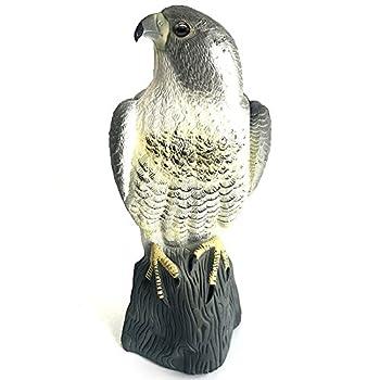 YOFIT Bird Scarecrow Fake Horned Hawk Decoy,Bird Repellent Garden Protectors Natural Enemy Pest Deterrent Scarecrow