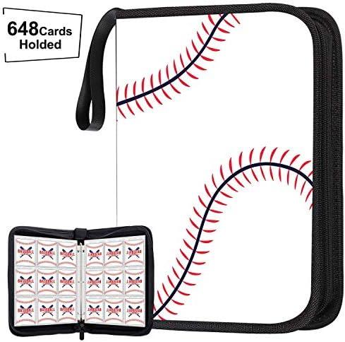 648 Pockets Baseball Card Binder for Baseball Trading Cards Display Case with Baseball Card product image