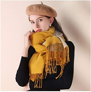 MUZIWENJU Scarf, Ladies Autumn and Winter Thick Warm Shawl (Three Colors Optional) (Color : Yellow)