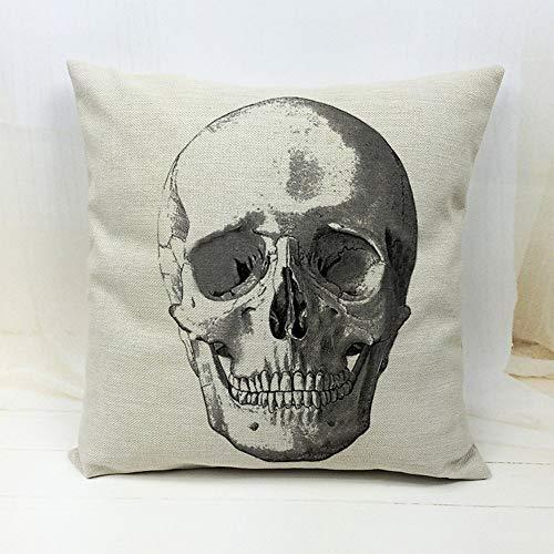 Throw Pillow Case Cushion Cover Skull Head 18'X18 (5)