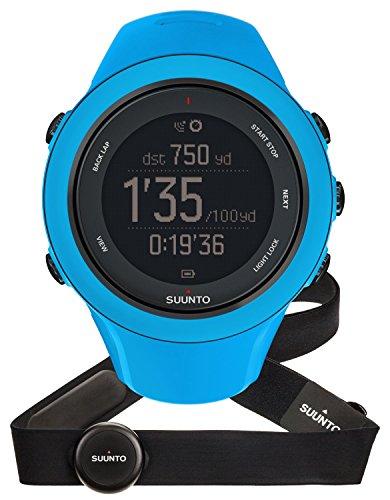 Suunto - Ambit3 Sport HR - SS020679000 - Reloj GPS Multideporte + Cinturón de frecuencia cardiaca (Talla M) - Sumergible 50 m - Azul