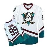 Yajun Adam Banks #99 Mighty Ducks Película Camisetas Hockey Jersey sobre Hielo NHL Hombre Ropa Respirable T-Shirt de Manga Larga,L