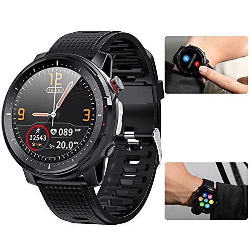 Hainice Inteligente Reloj Bluetooth Pulsera de los Deportes IP68 a Prueba de Agua Pantalla táctil Hombres Mujeres Aptitud del Reloj rastreadores Negro