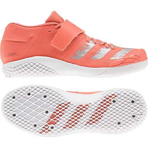 adidas Unisex-Erwachsene Adizero Javelin Leichtathletik-Schuh, Signal Coral/White Silver MET./FTWR, 46 EU