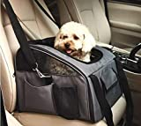 WOPET Pet Car Seat Carrier Airline Approved for Dog Cat Puppy Small Pets Travel Cage L Size Weight up to 15lbs
