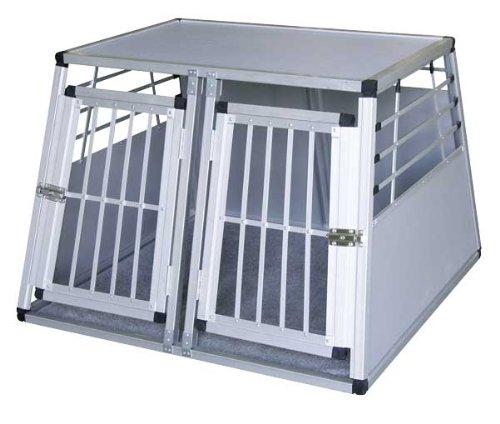 Transportín de aluminio para perros 92 x 97 x 68cm, con dos...