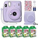 Fujifilm Instax Mini 11 Instant Camera Lilac Purple + Custom Case + Fuji Instax Film...