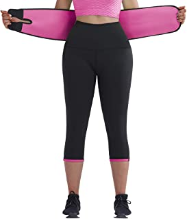 JOYMODE Neoprene Slimming Waist Trainer Leggings for Women Hot Sweat Sports Compression Tights Yoga Capri Pants Plus Size ...