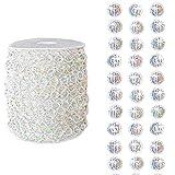 18M/Roll Perlas de acrílico transparente, reflejan las cuerdas de cuentas transparentes de la luz del arco iris, decoración de lujo para el hogar, hotel, boda, fiesta, puerta, ventana
