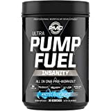 PMD Sports Ultra Pump Fuel Insanity - Pre Workout Drink Mix for Energy, Strength, Endurance, Muscle Pumps and Recovery - Complex Carbohydrates and Amino Energy - Arctic Blue Blast (30 Servings)