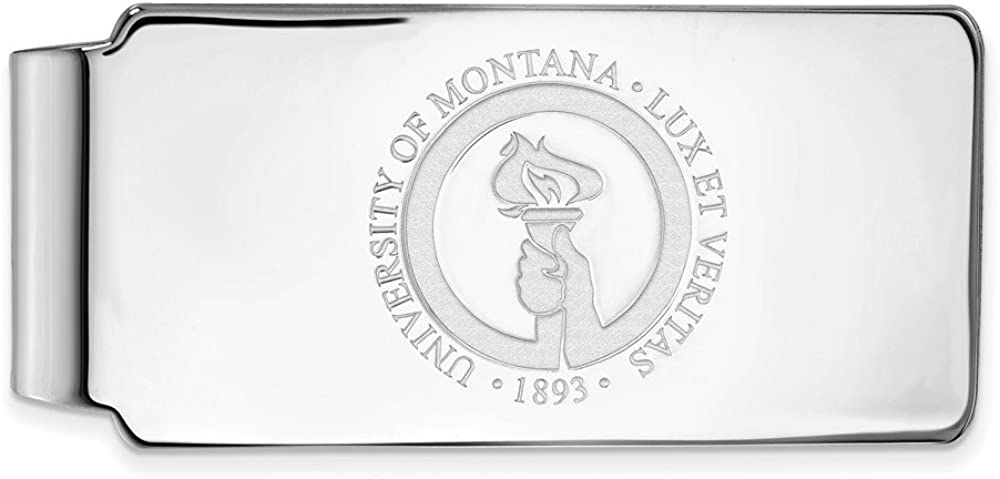 Solid 10k White Gold Official of Montana 25% OFF Busines University Slim Max 55% OFF