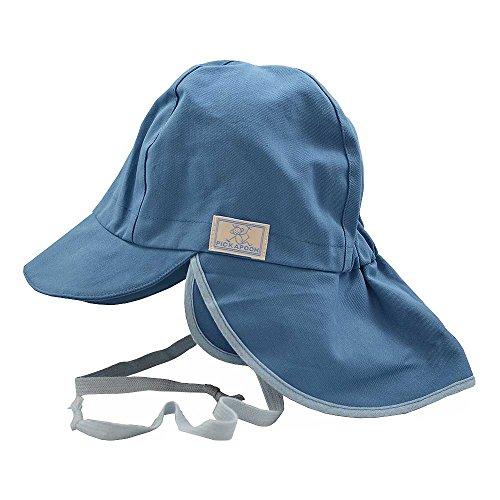 PICKAPOOH Baby/Kinder Sonnenhut/Sonnenmütze Tom mit UV-Schutz aus Reiner Bio-Baumwolle, Jeans Gr. 50