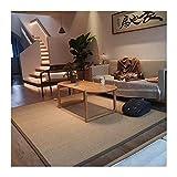 KKCF Fibra Natural Bambú Alfombra, Tapetes Verano Tradicionales Japoneses 2 Cm Grosor, Alfombra Antideslizante Rellena Esponja, Estar Balcón Dormitorio, Personalizada