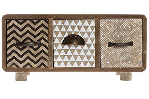 elbmöbel Mini commode en bois au design rétro