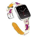 Valchinova Compatible with Fitbit Versa Strap for Women Leather Versa Lite Bracelet Galaxy Gear S3 Classic Watchband Amazfit 2 Stratos Band Replacement Watch Urbane Wristband Zenwatch 1 Gen (Beige)