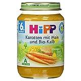 Hipp Karotten mit Mais und Bio-Kalb, 190 g