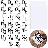 52 Parches de Letras de Coser Apliques de Alfabeto de Coser Parche Bordado de Letras A-Z Parche de Reparación con 2 Hojas Adhesivas de Insignias de 8,5 x 12 Pulgadas para Sombrero Camisa
