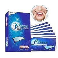 歯の手入れ、3D歯のホワイトニングストリップ持ち運びが簡単 天然ミントフレーバー 汚れ取り除き 歯のホワイトニングステッカー (サイズ : 3 boxes(42pcs))