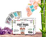 Naksiz Detox foot pads - pack of 20 - All natural and organic - Sleeping & Anti-Stress - weight loss- pain relief patches