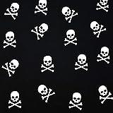 MAGAM-Stoffe Pirate Skulls Jersey Kinder Stoff Oeko-Tex