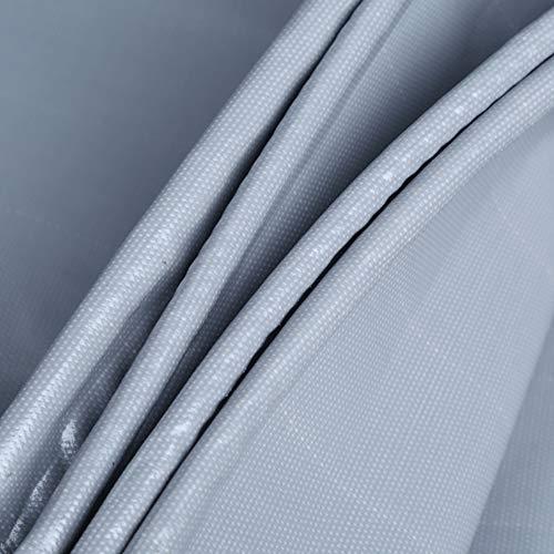 SXMXO Lonas Impermeable Gris, Lona de Protección, Lona Impermeable y Termica para Toldos Tienda de Campaña Jardín Parque Piscina 550g/㎡ 0.45 mm,2x2.5m