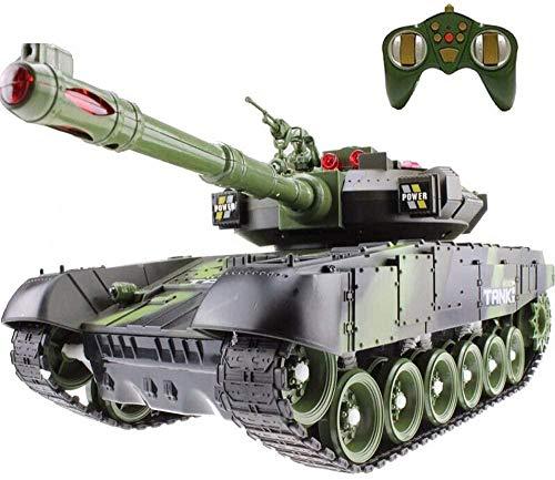 Mini Tanque RC de 2.4GHz con Cable de Cargador USB Radio Remoto Panzer Tanque Simulación Ejército Kit de Batalla Modelo Sonido Torreta Giratoria y Acción de Retroceso Cuando la Artillería de Cañón D