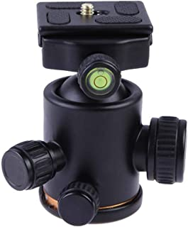 Solustre Mini Ball Head Adapter,360 Degree Swivel Aluminum Tripod Ballhead Compatible for DSLR camare Light Stand
