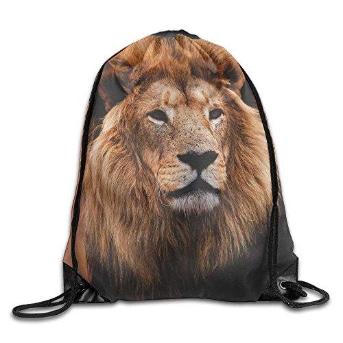 Yuanmeiju Galaxy Cat Laser Basic Mochila con cordón Workout Sackpack for Men & Women School Travel Bag Fiercely Lion Head
